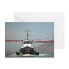 SF Bay Tugboat bow Greeting Cards (Pk of 10)