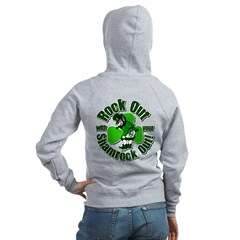 Rock Out With Your Shamrock Out Zip Hoodie
