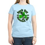 Rock Out With Your Shamrock Out Women's Light T-Sh