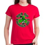 Rock Out With Your Shamrock Out Women's Dark T-Shi
