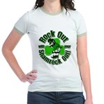 Rock Out With Your Shamrock Out Jr. Ringer T-Shirt