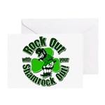 Rock Out With Your Shamrock Out Greeting Card