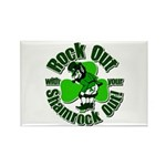 Rock Out With Your Shamrock Out Rectangle Magnet