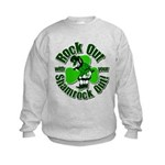 Rock Out With Your Shamrock Out Kids Sweatshirt