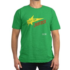 Out for Justice Fitted Dark T-Shirt
