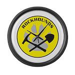 Rockhound Large Wall Clock