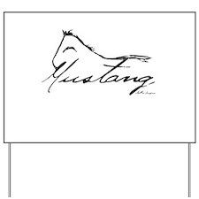 Sig Mustang Yard Sign