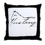 Sig Mustang Throw Pillow