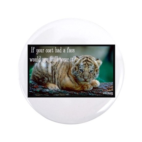 "Tiger Coat 3.5"" Button (100 pack)"