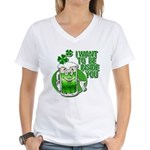 I Want To Be Inside You Women's V-Neck T-Shirt