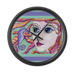 Friends - the mermaid and the Large Wall Clock