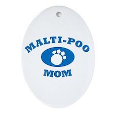 Malti-Poo Mom Ornament (Oval)
