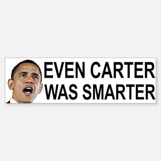 Obama's even worse than Carter Sticker (Bumper)