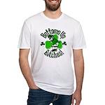 Bottoms Up Bitches Leprechaun Fitted T-Shirt