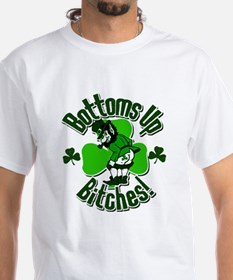 Bottoms Up Bitches Leprechaun Shirt