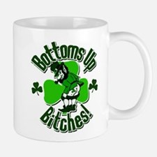 Bottoms Up Bitches Leprechaun Mug