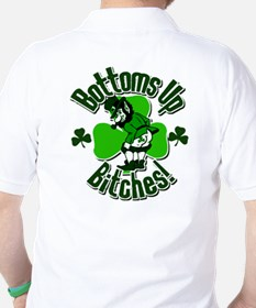 Bottoms Up Bitches Leprechaun T-Shirt