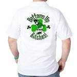 Bottoms Up Bitches Leprechaun Golf Shirt