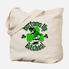 Bottoms Up Bitches Leprechaun Tote Bag