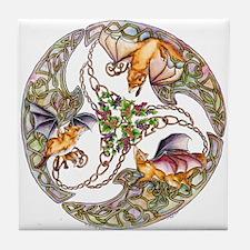 Foxes & Grapes Tile Coaster