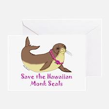 Monk Seal Greeting Card