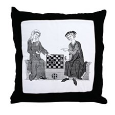 Medieval Chess Throw Pillow