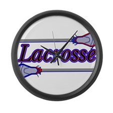 Lacrosse Sticks Large Wall Clock