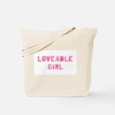 Loveable Girl Tote Bag