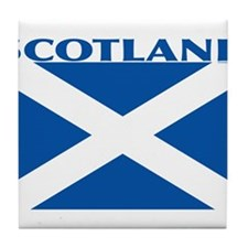 Cute Scottish flag Tile Coaster