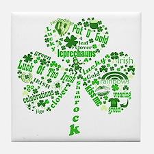 St Paddys Day Shamrock Tile Coaster