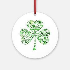 St Paddys Day Shamrock Ornament (Round)