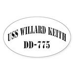 USS WILLARD KEITH Sticker (Oval)