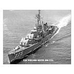 USS WILLARD KEITH Small Poster