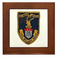 USS WILLARD KEITH Framed Tile