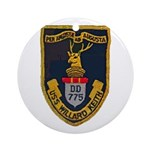 USS WILLARD KEITH Ornament (Round)