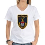 USS WILLARD KEITH Women's V-Neck T-Shirt