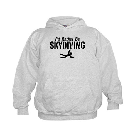 I'd Rather Be Skydiving Kids Hoodie