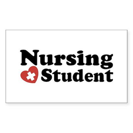 Nursing Student Sticker (Rectangle)