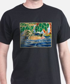 Wood Duck Black T-Shirt