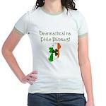 Gaelic & Map of Ireland Jr. Ringer T-Shirt
