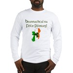 Gaelic & Map of Ireland Long Sleeve T-Shirt