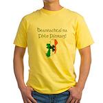 Gaelic & Map of Ireland Yellow T-Shirt