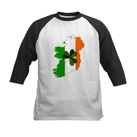 Map of United Ireland Kids Baseball Jersey