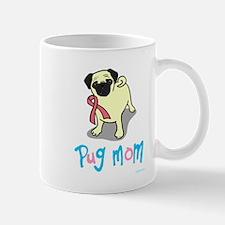 Cute Pug pink ribbon Mug