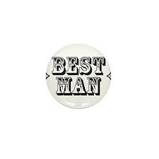 Best Man - Old West Mini Button