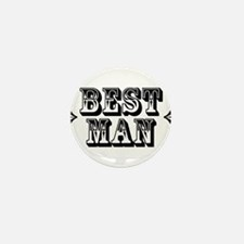 Best Man - Old West Mini Button