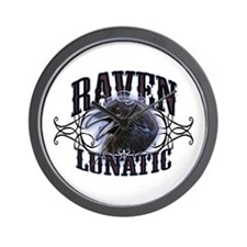 Raven Lunatic Gothic Wall Clock