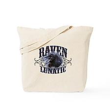 Raven Lunatic Gothic Tote Bag