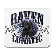 Raven Lunatic Gothic Mousepad
