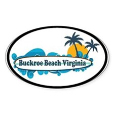 Buckroe Beach SC - Surf Design Decal